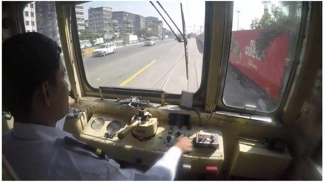 Tram in Yangon