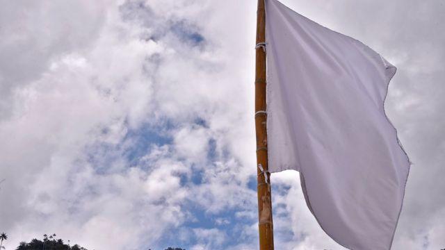 Bandera banca en Colombia