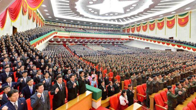 Conferencia de la industria de municiones de Corea del Norte en diciembre.