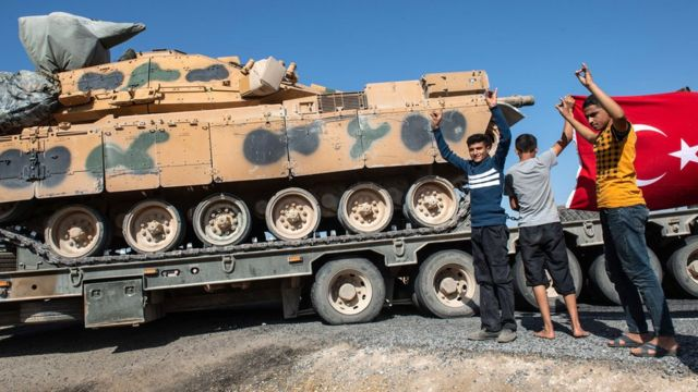 турецкий танк на севере сирии