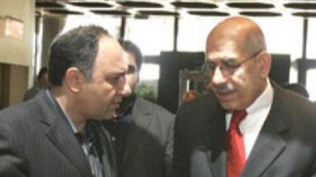 محمد سعیدی در کنار محمد البرادعی مدیرکل وقت آژانس بین المللی انرژی اتمی