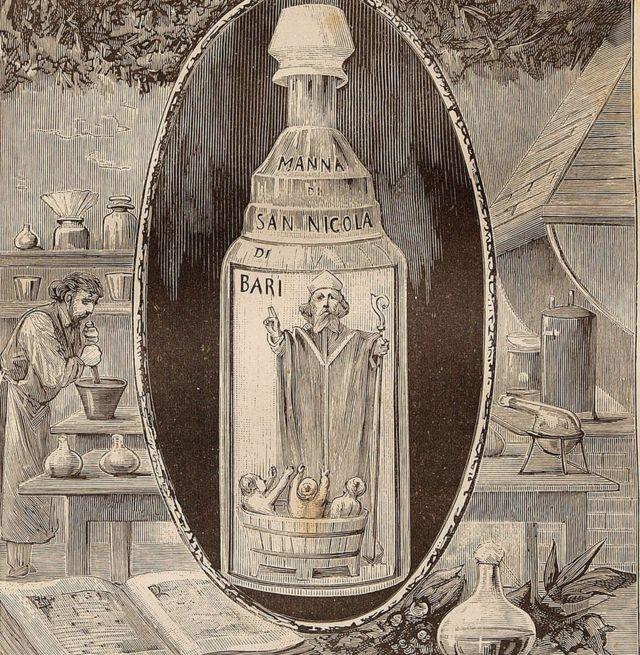 Botella de aceite de San Nicolás