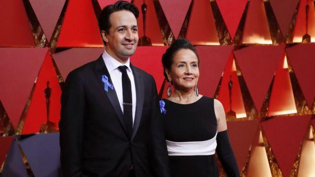 Lin-Manuel Miranda y su madre