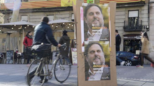Carteles de Junqueras en Barcelona