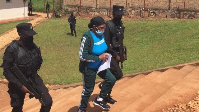 Munyenyezi asohotse mu rukiko ku Kicukiro mu mujyi wa Kigali kuwa gatatu tariki 05/05/2021