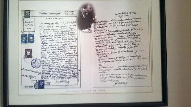 Atatürk'ün el yazısıyla yazdığı vasiyeti