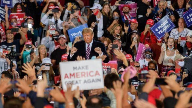 Дональд Трамп на митинге в Пенсильвании