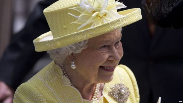 The Queen leaves St. Paul's Cathedral in London