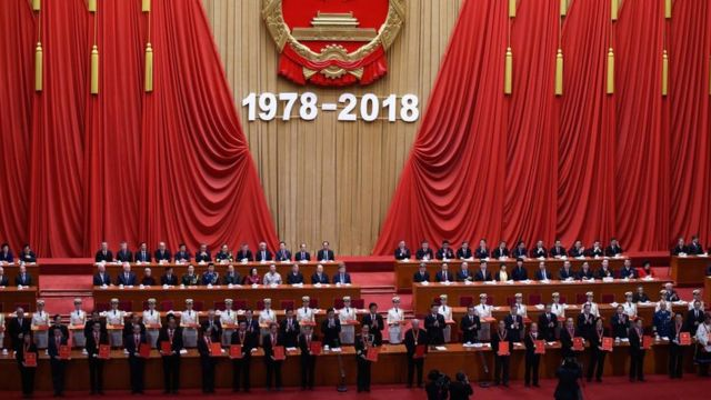 Çin'in 40 yıllık kalkınma projesinde rolü olanlara sertifikaları törenle verildi (18 Aralık 2018)