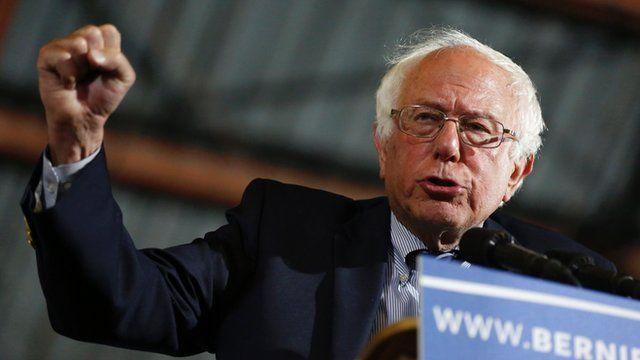 Bernie Sanders speaking in Santa Monica