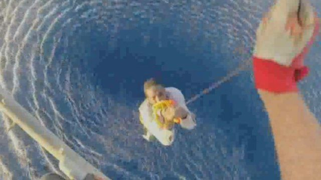 Migrant rescued from sea