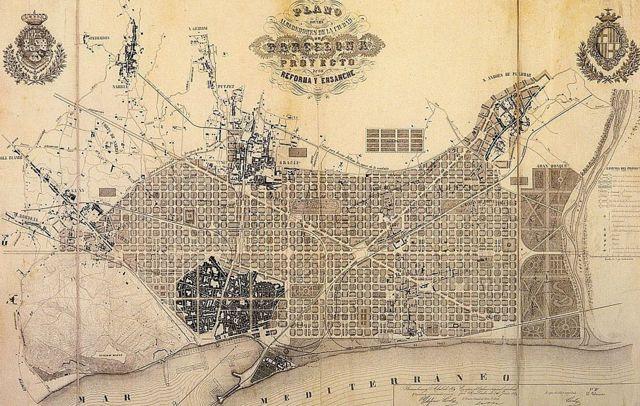 Plan del ensanche de Barcelona
