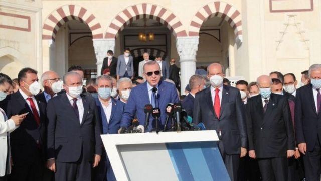 Erdoğan'ın iki günlük Kıbrıs ziyaretinde MHP lideri Devlet Bahçeli de vardı