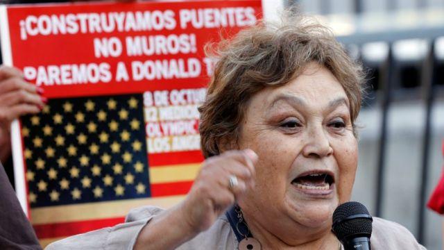 En Estados Unidos y México hubo protestas por la visita de Trump a este último país.