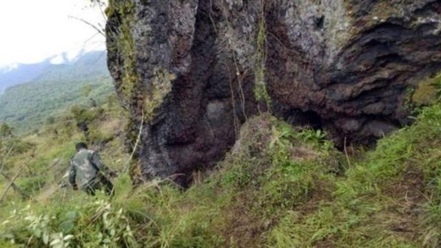 Un site où des fosses communes ont été dissimulées près de Goma en mars 2017