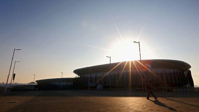 Vista da fachada da Arena Carioca