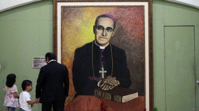 Cuadro de monseñor Óscar Arnulfo Romero.
