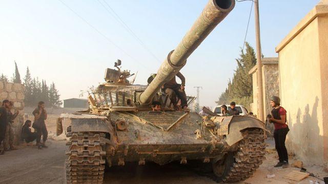 Halep'te El Nusra örgütü üyeleri