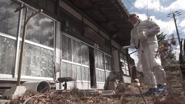 An abandoned home within the radiation exclusion zone, in Fukushima.