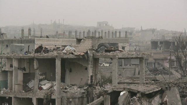 Syrian city in ruins