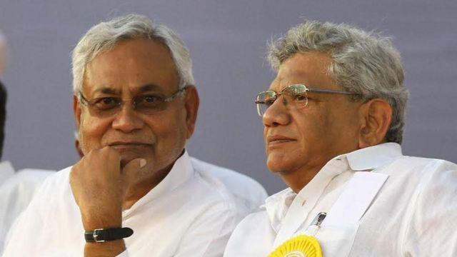 नीतीश कुमार, सीतीराम येचुरी