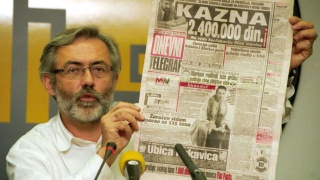 владелец и редактор Dnevni Telegraf Славко Чурувий