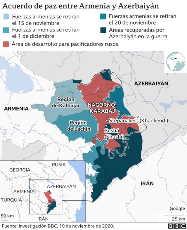 map of the conflict in Nagorno Karabakh