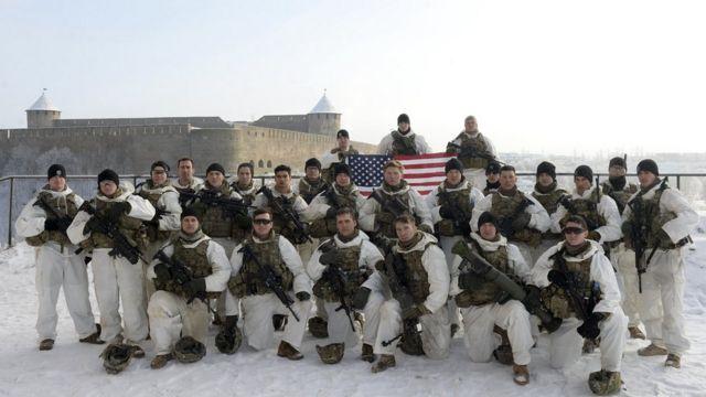 Американские солдаты в эстонской Нарве