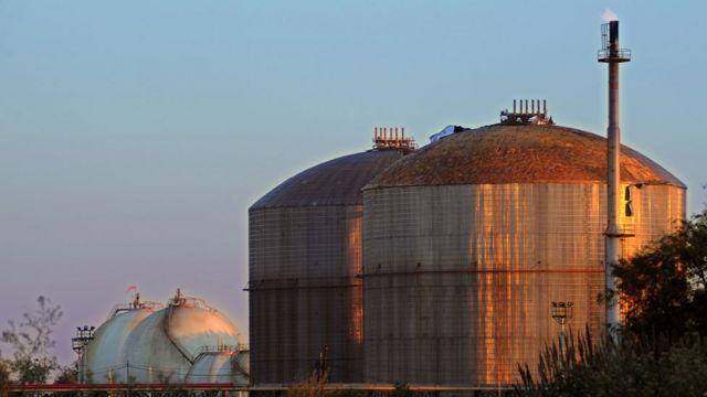 Planta de gas en Argentina