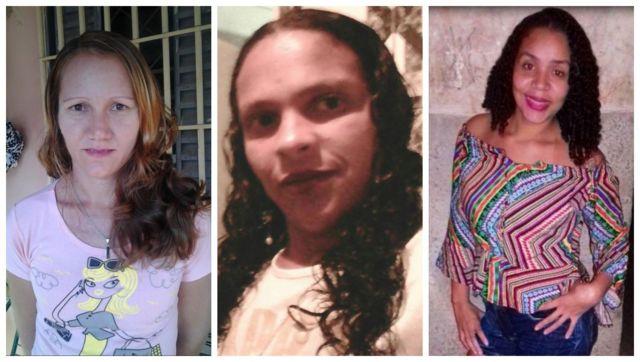 Sandra Lucia Hammer Moura, Fabiane Desiderio Lopes e Cristiane Ferreira, vítimas de feminicídio no Brasil