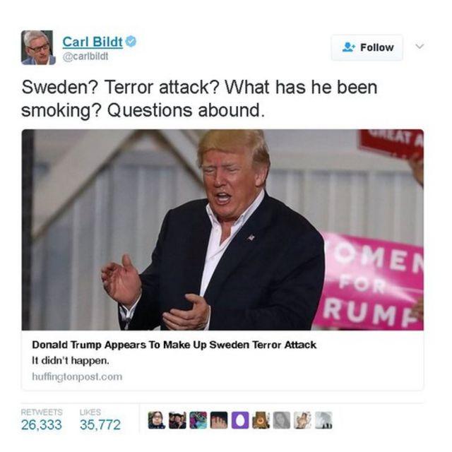 """""""السويد؟ هجوم إرهابي؟ ما الذي كان يتعاطه؟"""""""