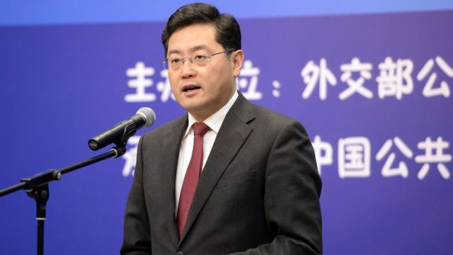 Qin Gang attended an event hosted by the Ministry of Foreign Affairs of China (Photo from China News Service)