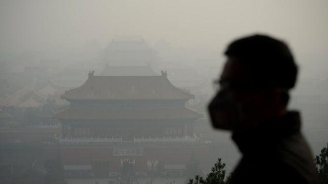 Смог в Пекине, Китай, 2016 год.