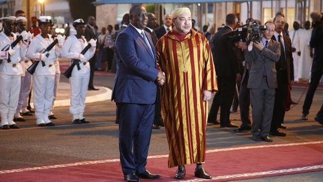 Le Roi du Maroc lors de sa visite au Sénégal en Mai 2015.