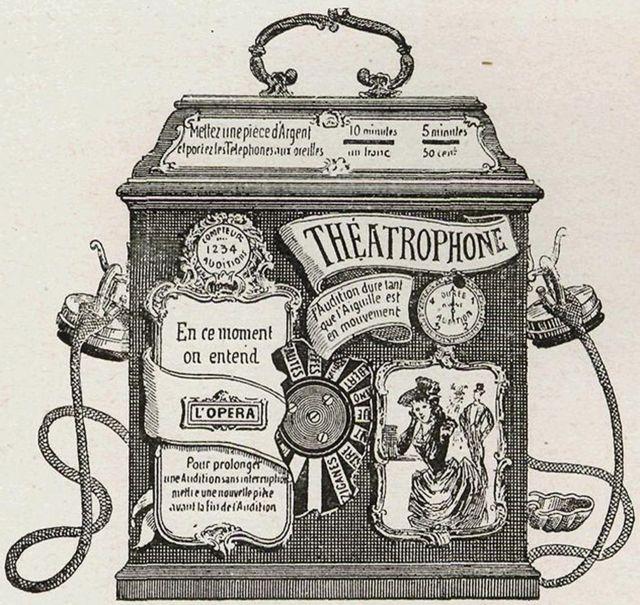 """Un """"Théâtrophone"""" operado por monedas de la década de 1890"""