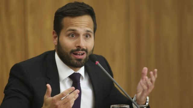 O ministro da Cultura, Marcelo Calero, durante entrevista