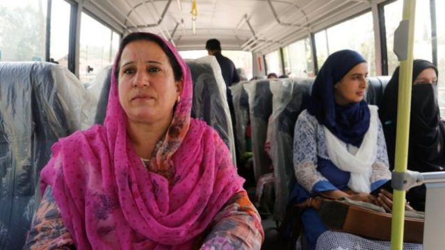 "Passenger Rifat Mir says the bus service has made her life ""very easy"""