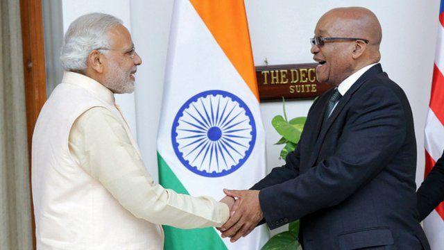 PM Narendra Modi and President Jacob Zuma