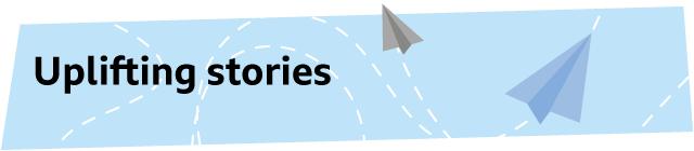Uplifting stories graphic