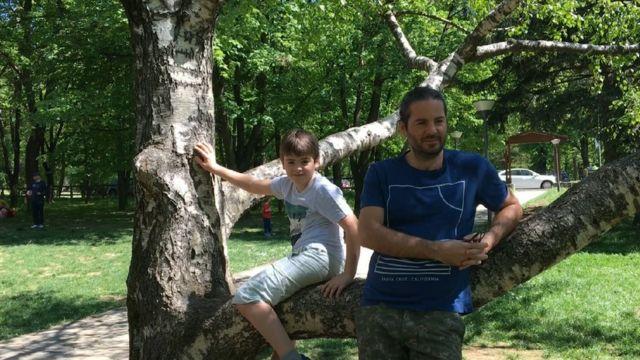 Dobrivoje Lale Erić sa sinom Filipom