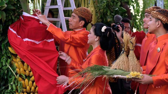 Presiden Joko Widodo dan keluarga