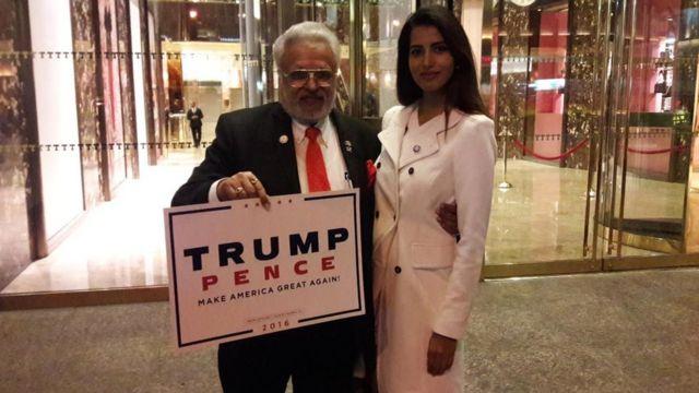 शलभ कुमार के साथ भारतीय महिला