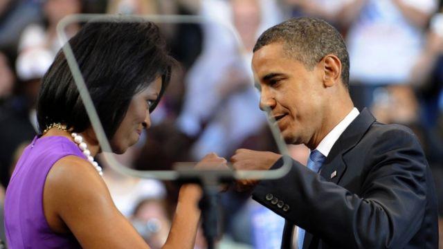 Michelle Obama na Barack Obama