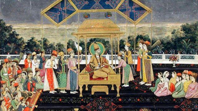 Cómo era y qué pasó con el fabuloso Trono del Pavo Real del imperio mogol de India - BBC News Mundo