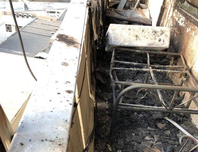 ความเสียหายหลังถูกบุกล้อมโจมตีที่โรงแรมอินเตอร์คอนติเนนตัล กรุงคาบูล อัฟกานิสถาน