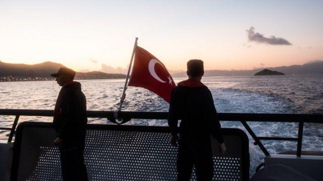 اعضای گارد ساحلی ترکیه