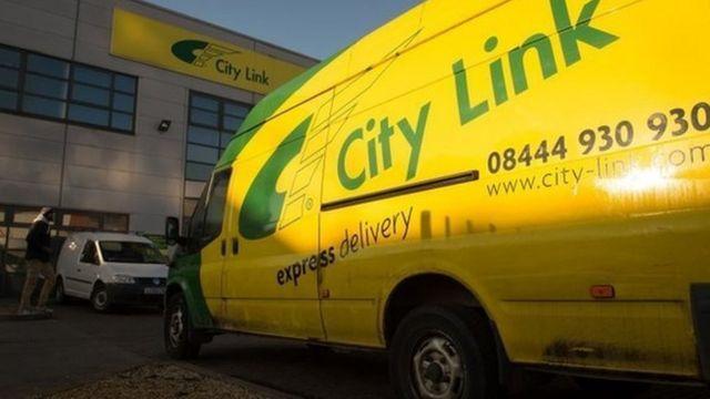 City Link van outside depot