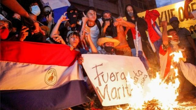 Protest in Paraguay against the management of the pandemic
