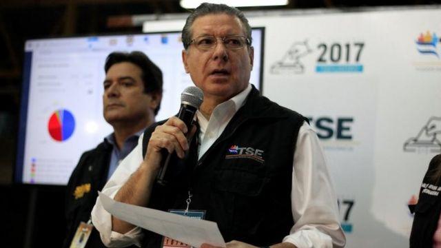Presidente del Tribunal Electoral de Honduras, David Matamoros.
