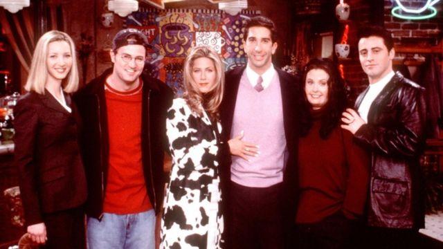 The cast of US sitcom Friends